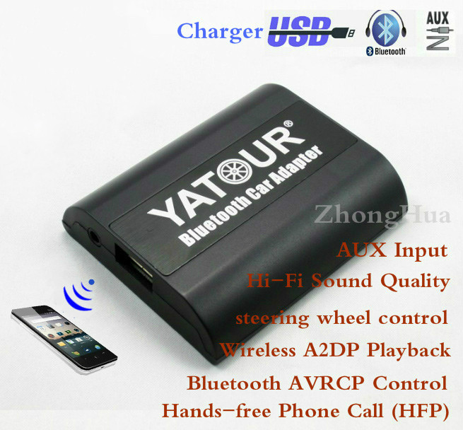 Peugeot Citroen Için Yatour Bluetooth Araç Adaptörü RD4 RT3 Can-bus YT-BTA USB AUX IN HI-FI A2DP