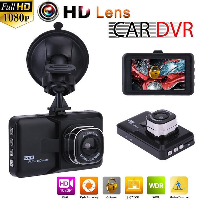 HD 3.0 1080 P Araba DVR Lens Kamera Video Kaydedici Dikiz Dash Cam G-sensor