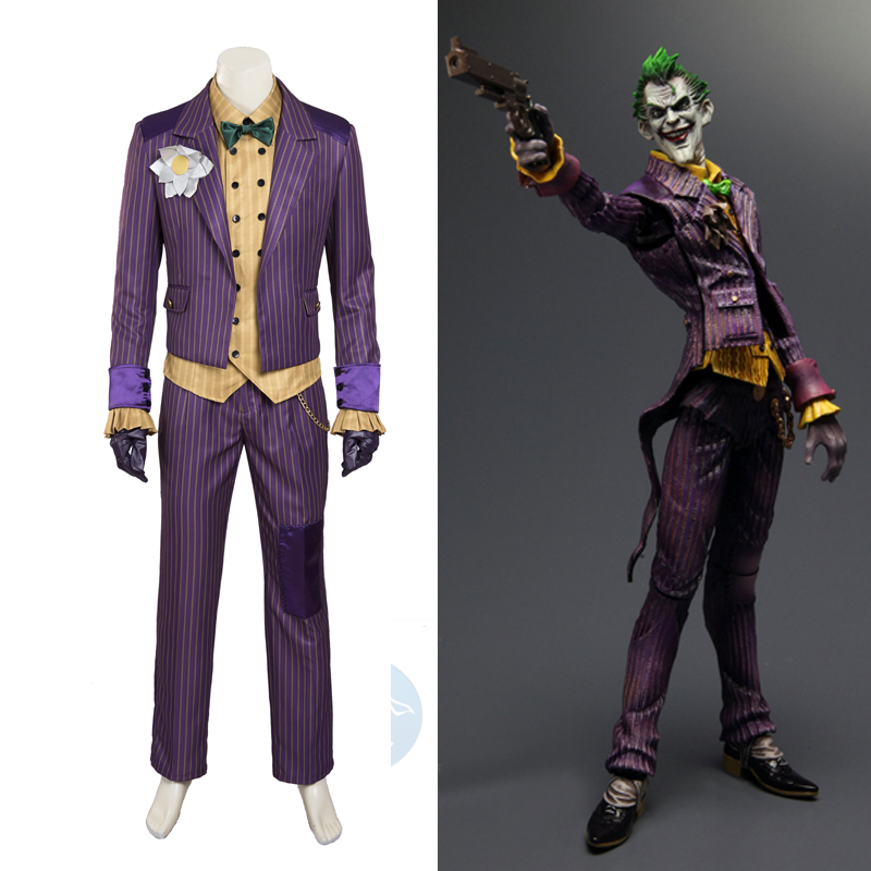 Kahraman Catcher Batman Arkham Şövalye Joker cosplay kostüm batman kostüm yetişkin cosplay Batman Joker kostüm custom made